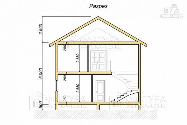Фото 4: проект дом каркасный с балконом и большим крыльцом