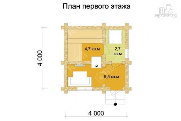 Фото 2: проект бревенчатая баня 4х4