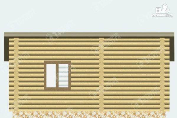 Фото 4: проект бревенчатая баня с террасой