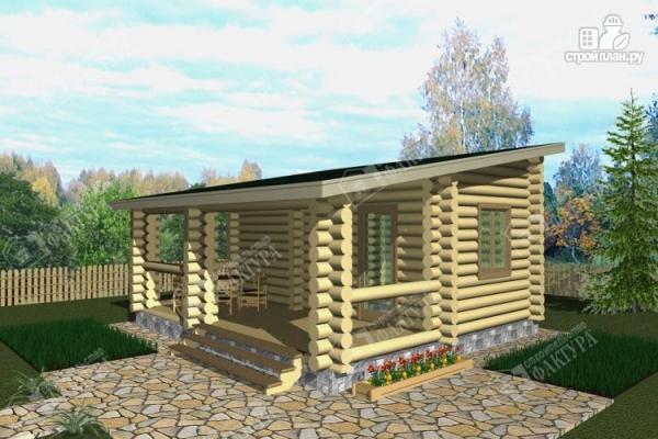 Фото: проект бревенчатая баня с террасой