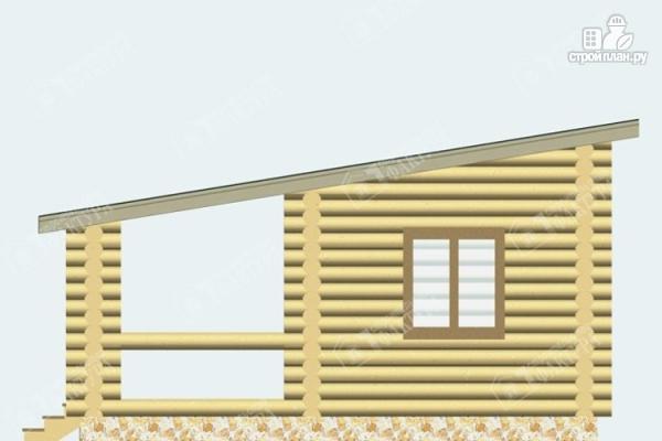 Фото 3: проект бревенчатая баня с террасой