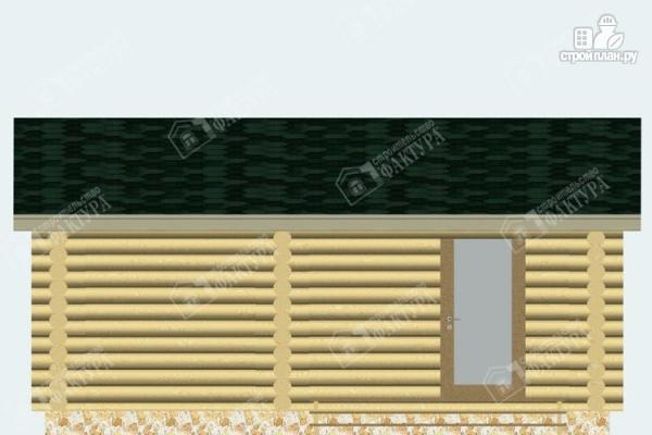 Фото 6: проект бревенчатая баня с террасой
