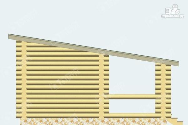 Фото 5: проект бревенчатая баня с террасой