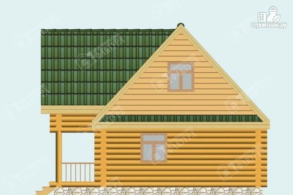 Фото 5: проект двухэтажный дом-баня из бревна
