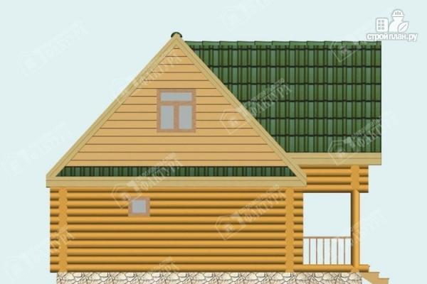 Фото 7: проект двухэтажный дом-баня из бревна