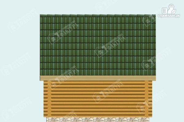 Фото 6: проект двухэтажный дом-баня из бревна