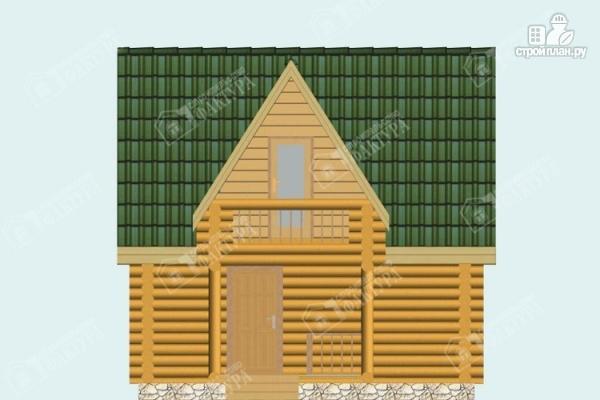 Фото 4: проект двухэтажный дом-баня из бревна