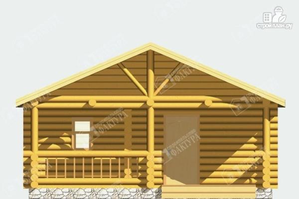 Фото 3: проект баня из бревна с террасой