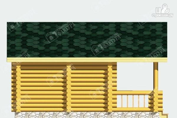 Фото 6: проект баня из бревна с террасой