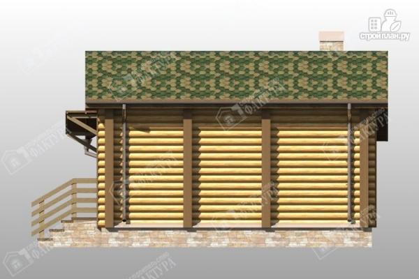 Фото 5: проект баня из бревна с крыльцом