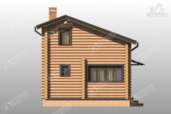 Фото 4: проект дом-баня из бревна с двухсветной гостиной