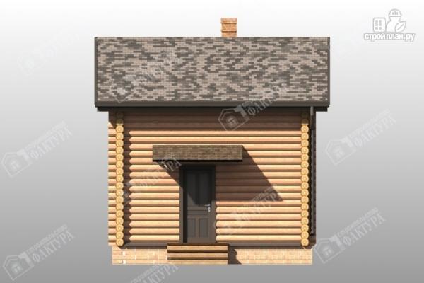 Фото 5: проект дом-баня из бревна с двухсветной гостиной
