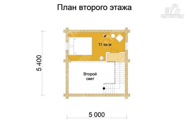 Фото 3: проект дом-баня из бревна с двухсветной гостиной