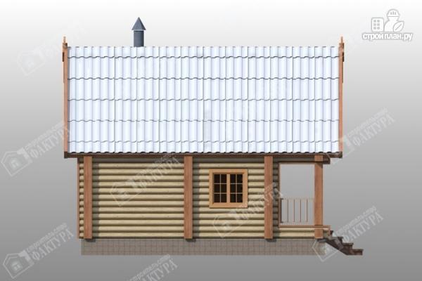 Фото 7: проект двухэтажная баня из бревна с бильярдом