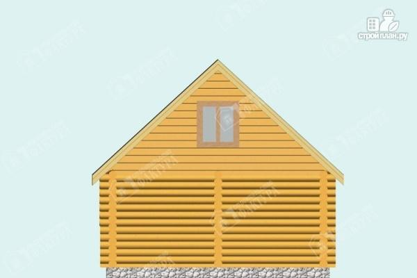 Фото 6: проект дом-баня из бревна с балконом