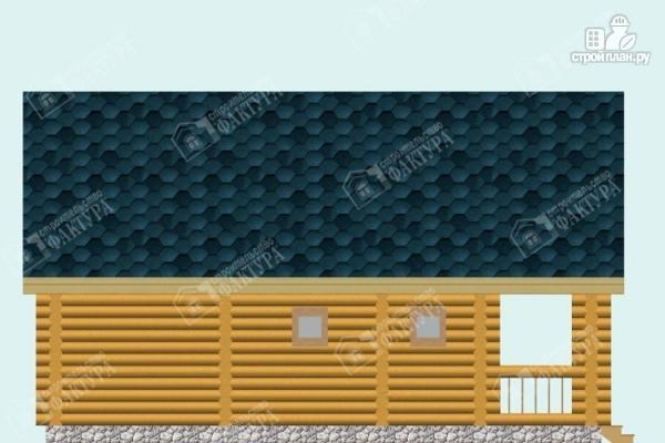 Фото 7: проект дом-баня из бревна с балконом