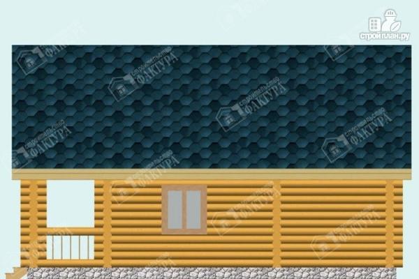 Фото 5: проект дом-баня из бревна с балконом