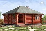 Проект одноэтажная баня из бревна