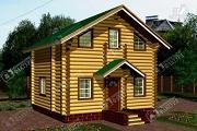 Фото: дом-баня из бревна