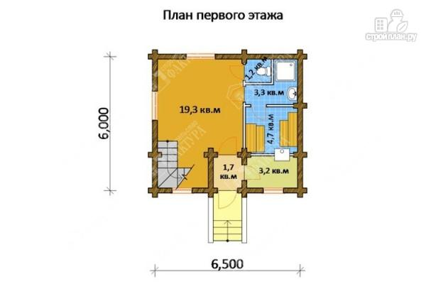 Фото 2: проект дом-баня из бревна