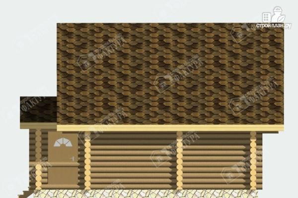 Фото 5: проект дом-баня из бревна с бассейном