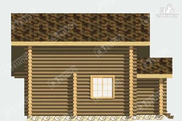 Фото 7: проект дом-баня из бревна с бассейном