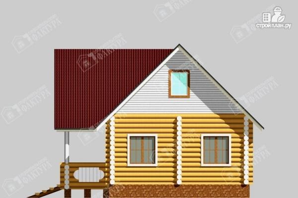 Фото 5: проект бревенчатый дом 6х10 с баней