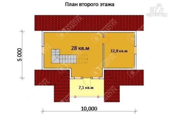 Фото 3: проект бревенчатый дом 6х10 с баней