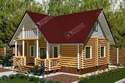 Проект бревенчатый дом 6х10 с баней