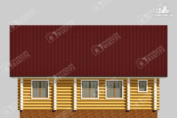 Фото 6: проект бревенчатый дом 6х10 с баней
