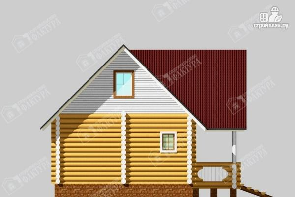 Фото 7: проект бревенчатый дом 6х10 с баней
