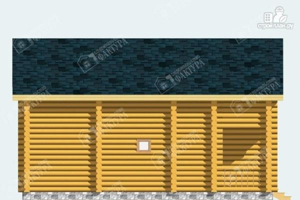 Фото 7: проект дом из бревна с парной