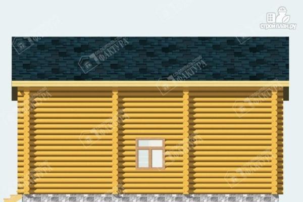 Фото 5: проект дом из бревна с парной