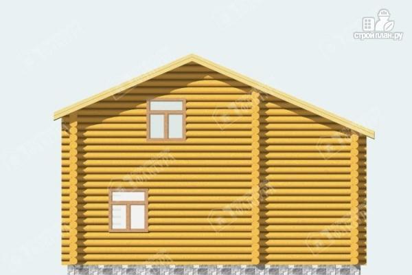 Фото 6: проект дом из бревна с парной