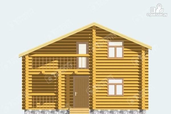 Фото 4: проект дом из бревна с парной