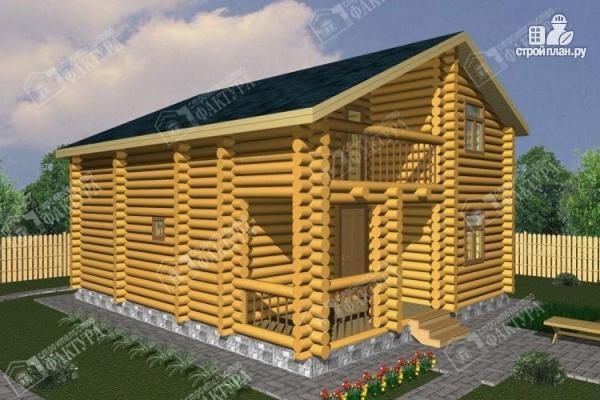 Фото: проект дом из бревна с парной