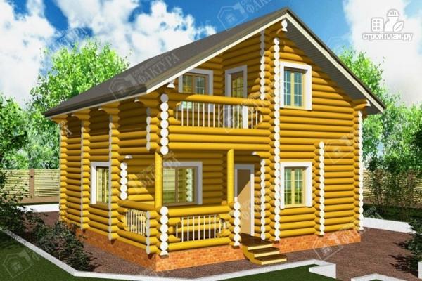 Фото: проект двухэтажный дом-баня из бревна