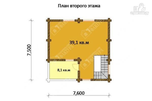 Фото 3: проект двухэтажный дом-баня из бревна