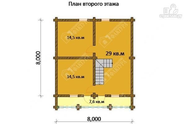Фото 3: проект бревенчатый дом-баня 8х8