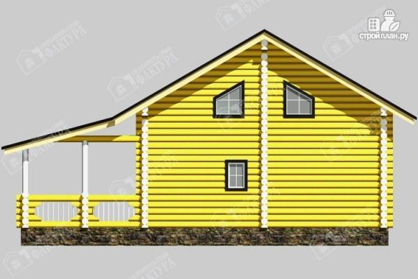 Фото 6: проект бревенчатый дом-баня 8х8