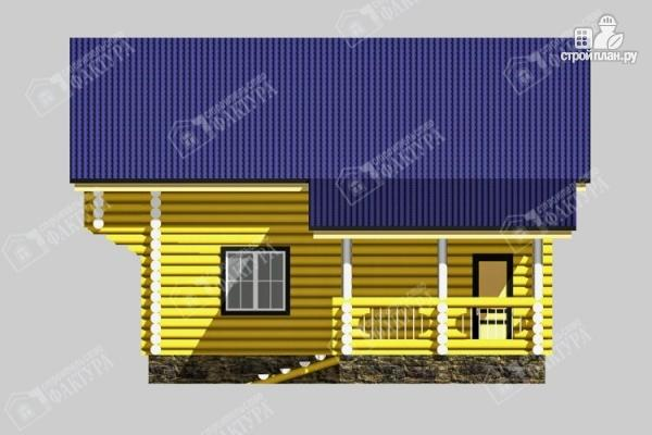 Фото 5: проект бревенчатый дом-баня 8х8
