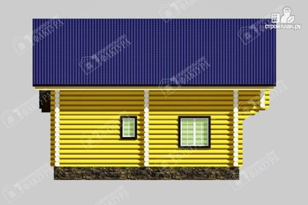 Фото 7: проект бревенчатый дом-баня 8х8