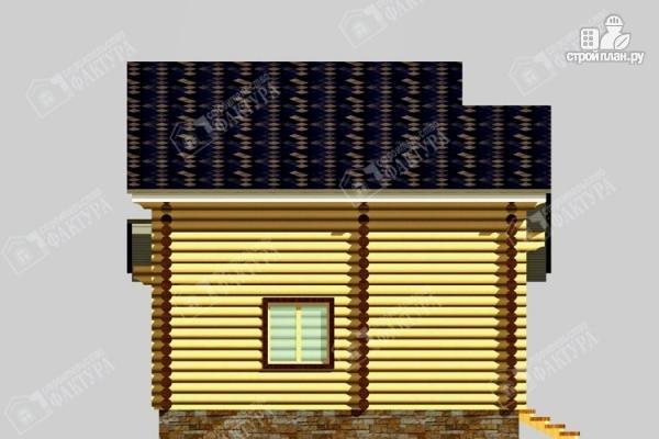Фото 7: проект дом из бревна с угловой террасой и вторым светом