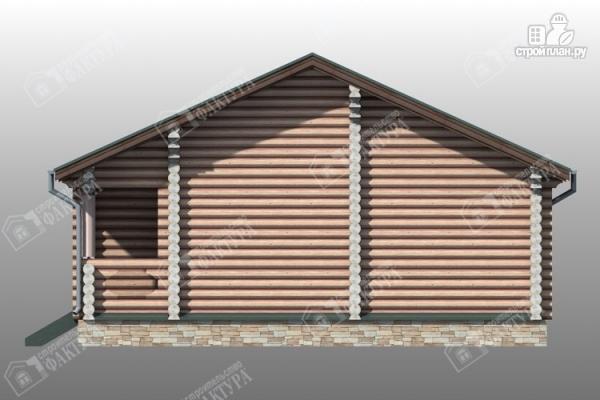 Фото 4: проект бревенчатый дом с баней и двумя верандами
