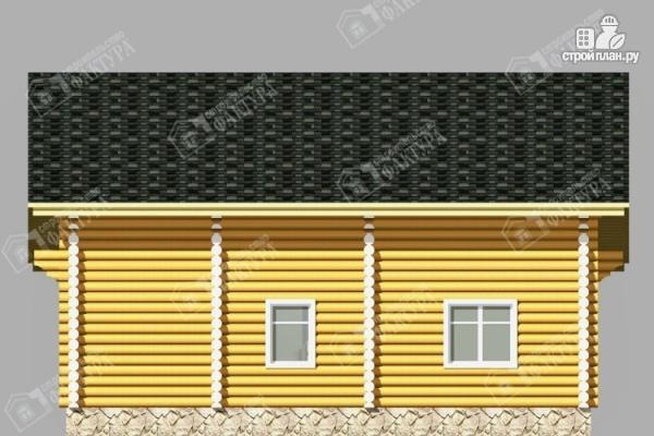 Фото 6: проект двухэтажный дом из бревна с баней