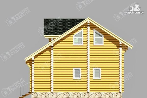 Фото 5: проект двухэтажный дом из бревна с баней