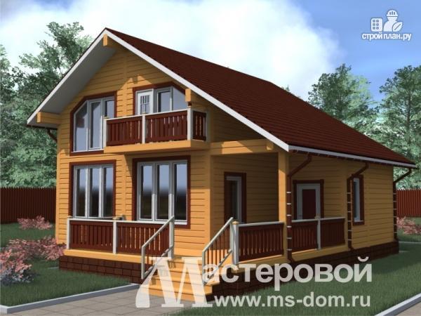 Фото: проект уютный дом из бруса