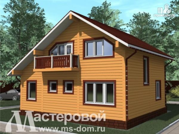 Фото 4: проект уютный дом из бруса