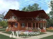 Проект дом из бруса с каминным залом