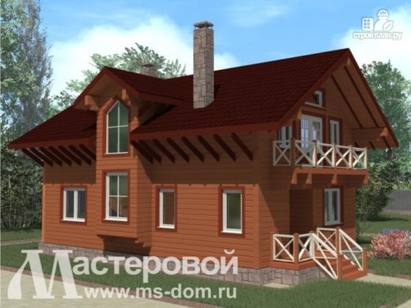 Фото 5: проект дом из бруса с каминным залом